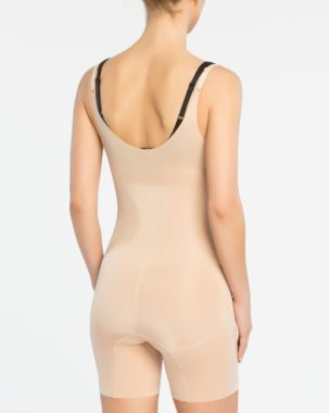 Oncore Open-Bust Mid-Thigh Bodysuit 10130R