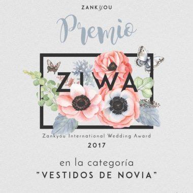 Premio 2017 Atelier Novias Madrid Zankyou Ziwa Raquel Ferreiro