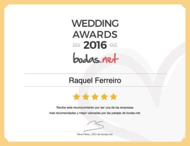 Premio 2016 Atelier Novias Madrid Bodas.net Raquel Ferreiro