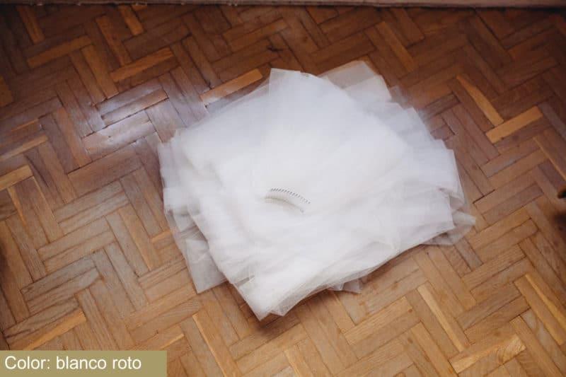 Tul Sedoso Blanco Atelier Novias Madrid Raquel Ferreiro