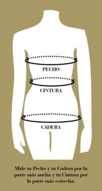 Tabla para saber qué talla necesitas Atelier Novias Madrid Raquel Ferreiro